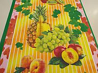 """Ткань вафельная ширина 50 см Тропические фрукты / """"Чарівна Ніч"""", фото 1"""