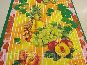 """Ткань вафельная ширина 50 см Тропические фрукты / """"Чарівна Ніч"""""""
