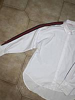ЖІНОЧА РУБАШКА женская рубашка. одежда для девушек и женщин. рубашка с лампасами