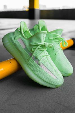 Кроссовки мужские Adidas Yeezy Boost 350 V2 GID Glow EG5293 Адидас Изи Буст 350 в 2 Салатовый Размер 46
