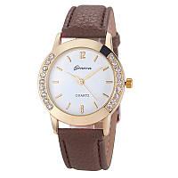 Женские часы Geneva Diamond коричневые, фото 1