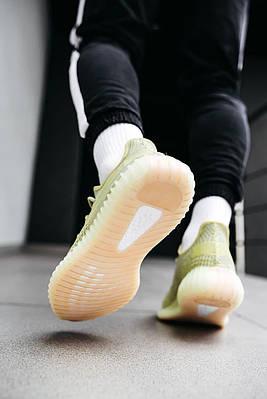 Кроссовки мужские Adidas Yeezy Boost 350 V2 Antlia FV3250 Адидас Изи Буст 350 в 2 Салатовый Размер 46
