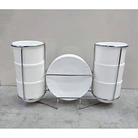 Набор чайный 12 пр на стойке Белый S&T 40010-07-250