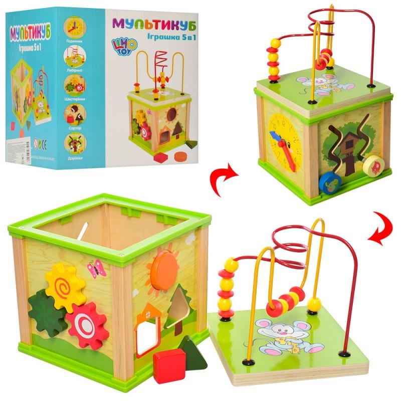 Деревянная игрушка сортер Лабиринт MD 0995