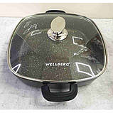Сотейник Kasian Brown 28 х 28 х 7 см с мраморным покрытием Wellberg WB-3331, фото 3