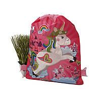 Кольоровий рюкзак для дівчаток рожевий поліестер Арт.5151 (Китай)