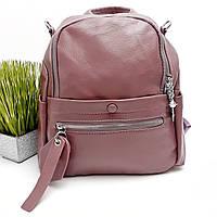 Сумка рюкзак женская искусственная кожа фрез Арт.6206 purple (Китай)