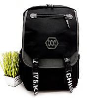 Рюкзак міський унісекс поліестер чорний Арт.6928 (Китай)