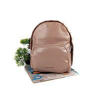 Жіночий рюкзак штучна шкіра пудра Арт.CD-58-092 pink Johnny (Китай)