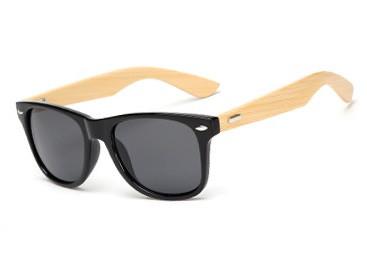 Очки солнцезащитные Wayfarer bamboo с бамбуковыми дужками