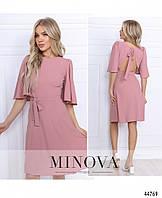 Стильное платье №0101, розовое