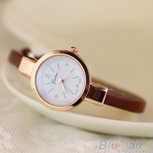 Женские часы браслет Ymhao коричневые