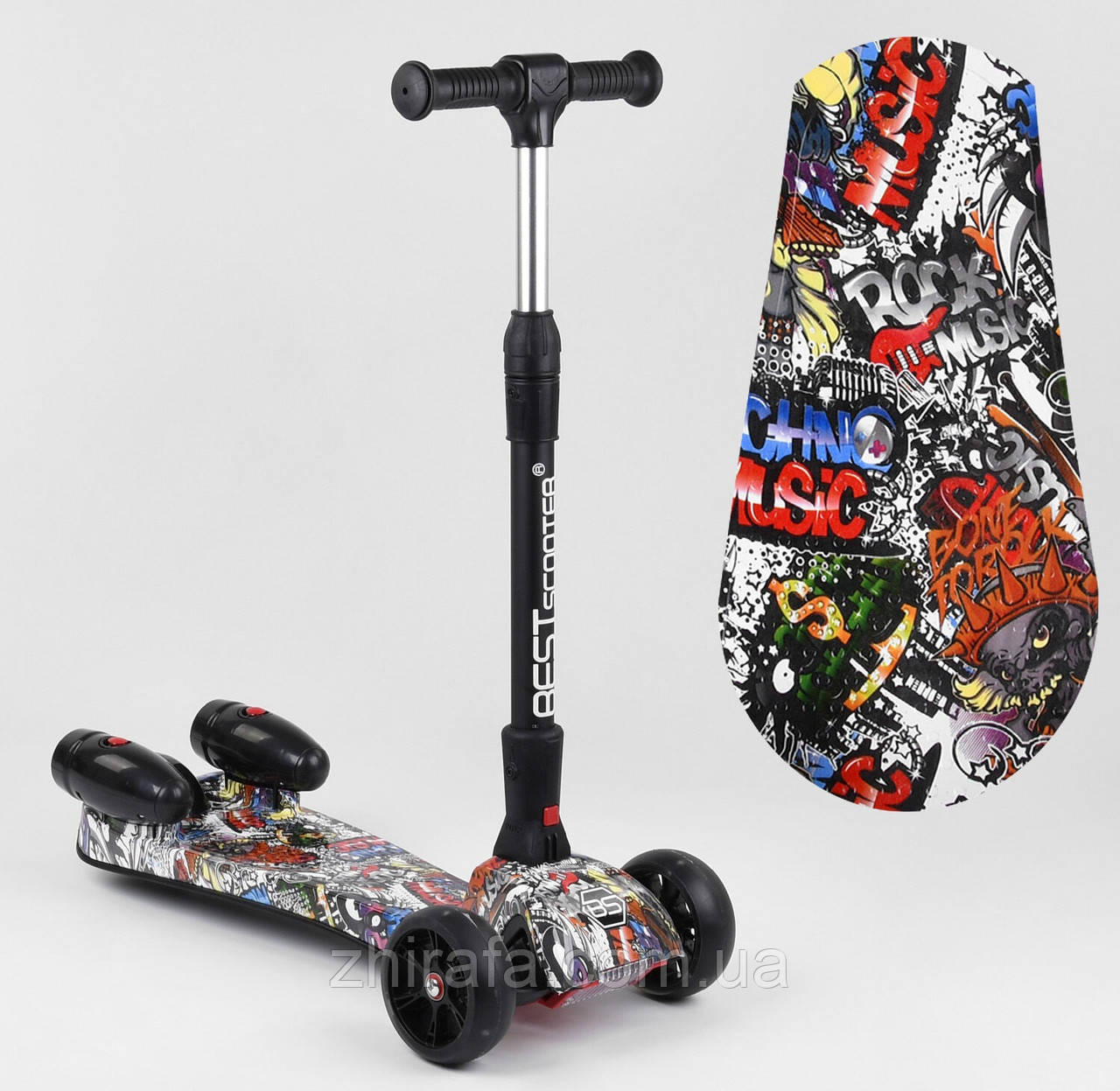 УЦІНКА ! Дитячий Триколісний Самокат Best Scooter MAXI з турбіною