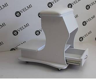 Подставка-пуф для педикюра с ящичком педикюрная подставка для ног педикюрного кресла передвижная vm29