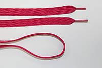 Шнурки плоские 10мм, малина