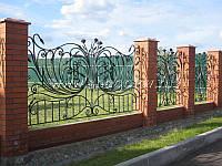 Кований паркан з воротами