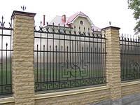 Красивые кованые заборы и ворот