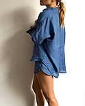 Жіночий прогулянковий костюм двійка з льону (Норма), фото 5