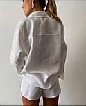 Жіночий прогулянковий костюм двійка з льону (Норма), фото 8