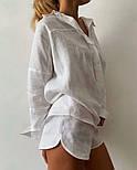 Жіночий прогулянковий костюм двійка з льону (Норма), фото 9