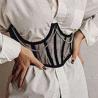 Корсет женский для талии с косточками прозрачный