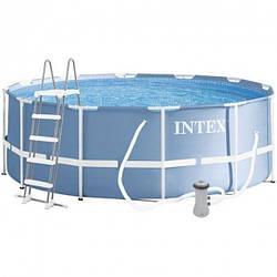 Каркасный бассейн 305х99 см Intex 26706 с лестницей и фильтр-насосом в комплекте