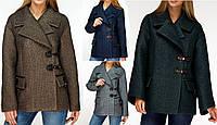 Женское модное короткое пальто. Демисезонное женское пальто. Полупальто женское короткое