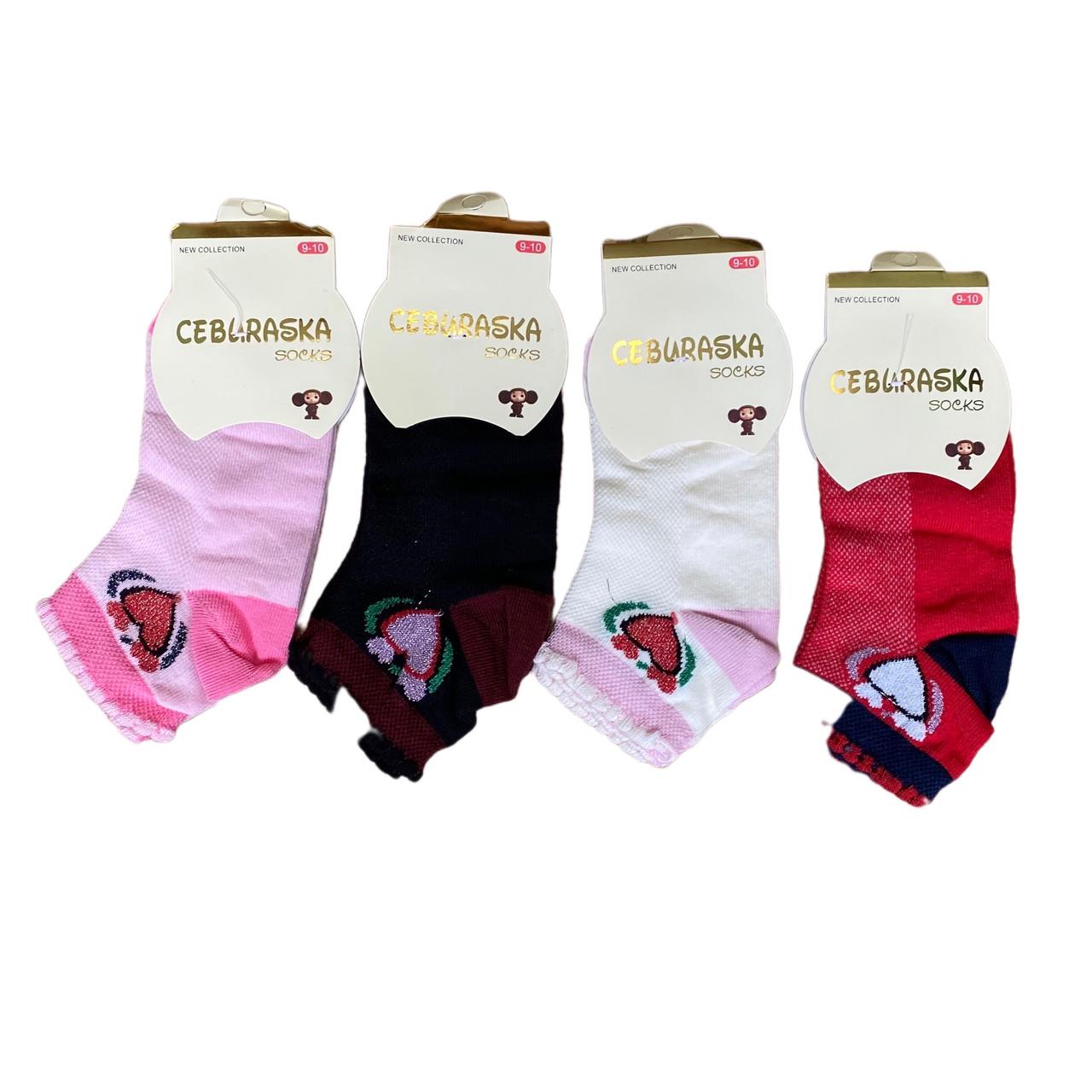 Летние носки хлопок для девочки, 24см, 11-12 лет
