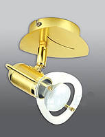 Спот направляемый светильник (спот светильник направленного света) золотой с матовым золотом E14 40w,Watc