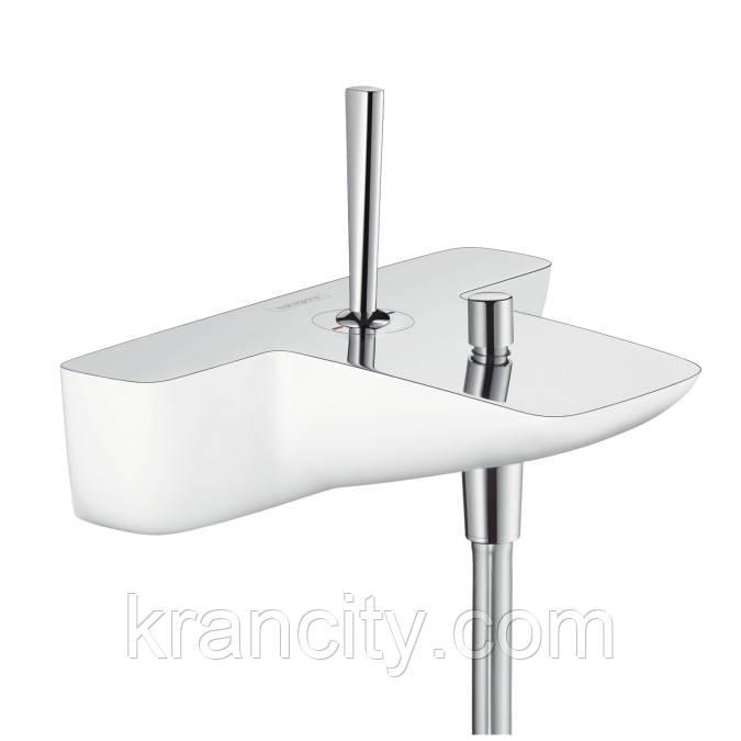 Смеситель для ванны джойстиковый HANSGROHE PURAVIDA 15472400,кран для ванной,немецкий,белый