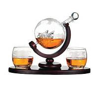 """Набор для виски """"Вокруг света"""" стаканы с графином 850 мл. 640014"""