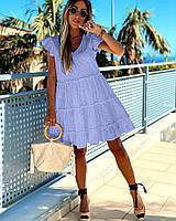 Платье женское с прошвы с оборками в большом размере