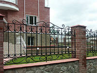 Забор из металла ковка