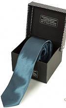Элегантный узкий галстук из шелка ETERNO (ЭТЕРНО) EG627 синий
