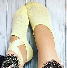 Шкарпетки жіночі, ультратонкі літні,ажурний візерунок,LUCKY SOCKS,23-25желтый 30030479