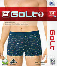 Труси-боксери чоловічі бавовна GOLT асорті G-3915 ростовка 12 шт різні розміри ТМБ-1811543
