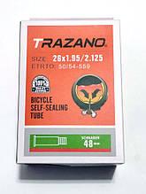 """Велосипедная камера антипрокол Trazano 26"""" с антипрокольной жидкостью"""
