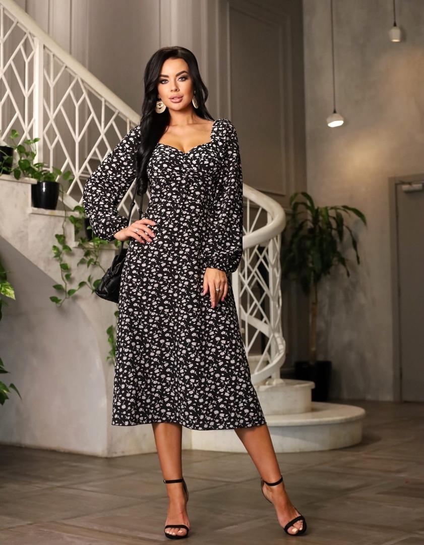 Жіноче плаття, супер - софт, р-р 42-44; 46-48 (чорний)