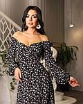 Женское платье, супер - софт, р-р 42-44; 46-48 (чёрный), фото 2