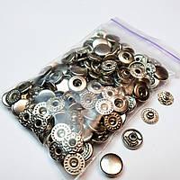Кнопки для одягу Альфа 10.5 мм, Сріблястий нікель (VT-2).Кнопки для гаманців