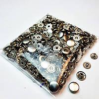 Кнопки для одягу Альфа 10.5 мм, Сріблястий нікель (VT-2).Кнопки для гаманців.