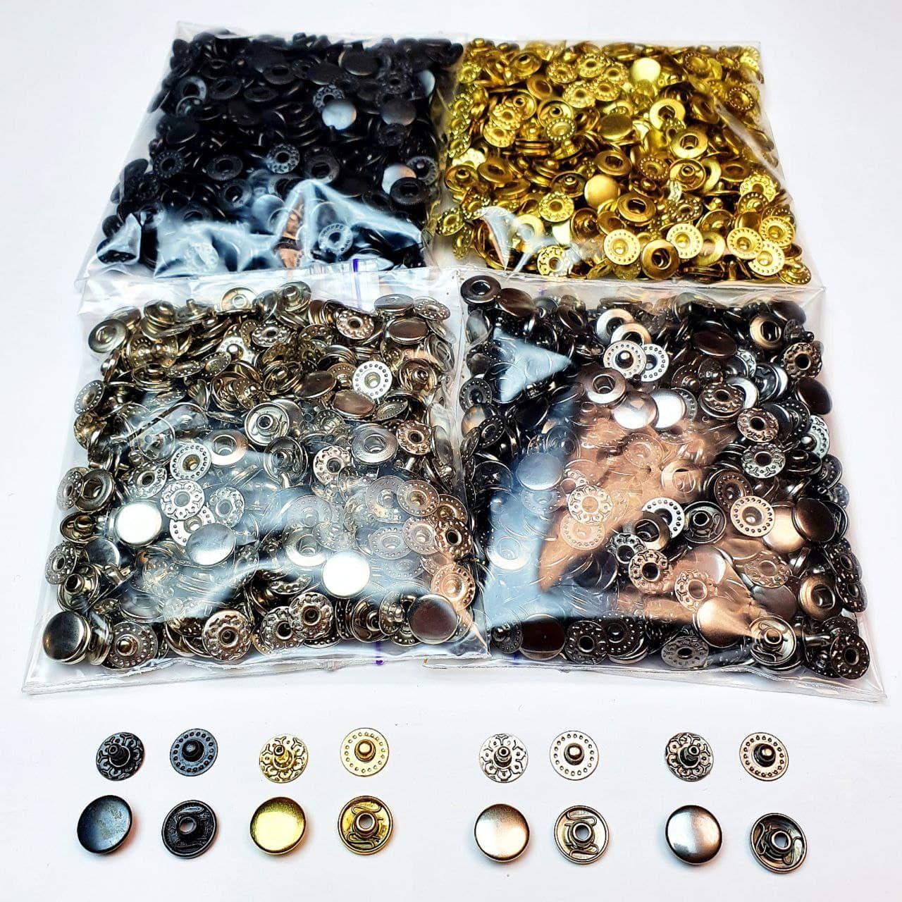 Кнопки для одежды Альфа 10.5мм. (VT-2),Кнопки для кошельков. ( 4 цвета по 50 шт.)