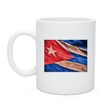 Белая Чашка нанесение печати Куба флаг олд