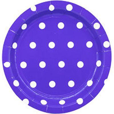 Тарілка Горошок фіолетові 17см (6шт)