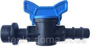 Кран стартовий для крапельної трубки під ущільнювальну гумку Evci Plastik 16 мм
