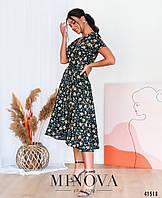 Елегантна сукня великого розміру на запин, №893-колір чорний