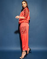 Женский шелковый костюм большого размера.Размеры:48/58+Цвета