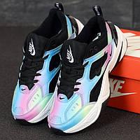 Женские кроссовки в стиле Nike M2K Tekno, черный, белый, голубой, сиреневый, Вьетнам