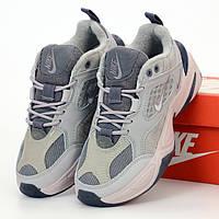 Женские кроссовки в стиле Nike M2K Tekno, серый, Вьетнам