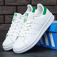 Женские кроссовки в стиле Adidas Stan Smith, белый, зеленый, Вьетнам